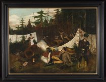 Image of Untitled: Adirondack Primitive Scene - Painting