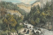 Image of The Source of the Hudson, in the Indian Pass, Adirondacks. - Print