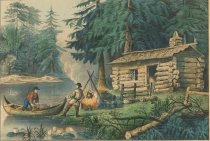 Image of Hunting in the Northern Woods. - Print