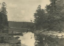 Image of Outlet of Little Forked Lake, Adirondacks, N.Y. - Collotype