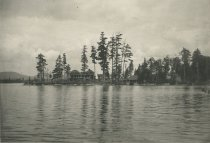 Image of Camp Fairview from St. Hubert's Isle, Raquette Lake, Adirondacks, N.Y. - Collotype