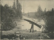 Image of End of Long Carry, at Raquette River, Adirondacks, N.Y. - Collotype