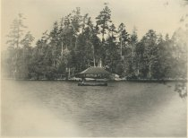 Image of Boat House at Camp Cedars, Forked Lake, Adirondacks, N.Y. - Collotype