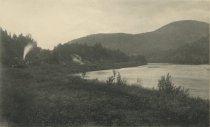 Image of Hudson River near Thurman's, on the Adirondack Railway, Adirondacks, N.Y. - Collotype