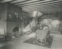 Image of Hall of the Cottage, Prospect House, Blue Mountain Lake, Adirondacks, N.Y. - Collotype
