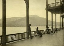 Image of Blue Mountain from Prospect House. Piazza. Adirondacks, N.Y. - Collotype