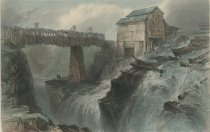 Image of Bridge At Glens Fall. (on the Hudson.) - Print
