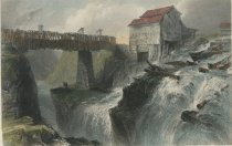 Image of Bridge At Glens Fall. (On the Hudson). - Print