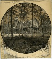 Image of Adirondack Lodge at Heart Lake - Drawing