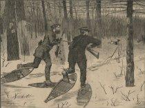 Image of Deer Stalking in the Adirondacks in Winter - Print