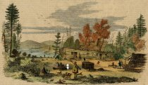 Image of St. Jermain's Hotel, Chazy Lake, Northern New York - Print