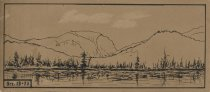 Image of The Range and Indian Pass from Lake Henderson - Drawing