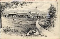 Image of Merwin's Blue Mountain Lake House - Drawing