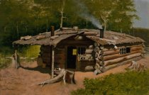 Image of Untitled: Ab [albert] Thompson's Cabin On Silver Lake - Painting