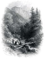 Image of Source of the Hudson in the Indian Pass. - Print