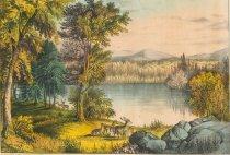 Image of Autumn On Lake George. - Print