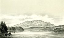 Image of Mount Seward, From Lake Incapahcho or Long Lake. - Print