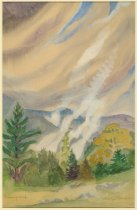 Image of Morning Mist Rising From the Woods, Keene Valley, Adirondacks, N.Y. - Painting