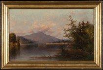 Image of Sunset Blue Mountain Lake, Adirondacks - Painting