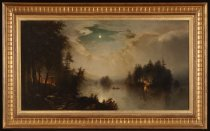 Image of Untitled: Night in the North Woods - Painting