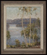 Image of The Summer Sun, Blue Mountain Lake, N.Y. - Painting