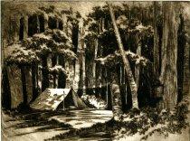 Image of Adirondack Campsite - Print
