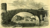 Image of Bridge Over the Ausable River At Keeseville, New York - Print
