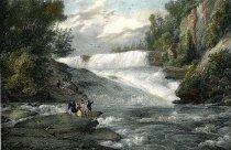 Image of Canada Creek Falls. - Print