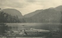 Image of Indian Pass from Lake Henderson, near Adirondack Club House, Adirondacks, N.Y. - Collotype