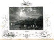 Image of Timber Raft On Lake Champlain. - Engraving
