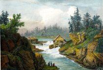 Image of Sawmill Near Luzerne Source of the Hudson - Print