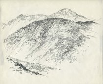 Image of Colden and the McIntyre Range from Gray Peak - Drawing