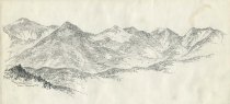 Image of The Range Trail from Boreas Mountain - Drawing