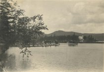 Image of Steamboat Landing at the Prospect House Adirondacks, N.Y. - Collotype