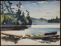 Image of Untitled: Blue Mountain Lake - Painting