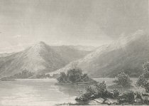 Image of A Scene On Forked Lake. - Print