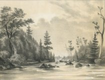 Image of View On Cedar River, Hamilton County - Print