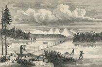 Image of Tertiary Triangulation. Sub-Base-Line.  Measured On the Ice of Raquette Lake Feb. 1877. - Print