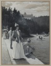 Image of At Bluff Point, Lake Champlain - Painting