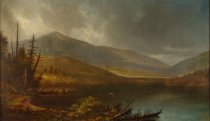 Image of Whiteface Mountain From Lake Placid, Essex Co. - Painting