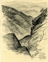 Image of Indian Pass from Wallface - Drawing
