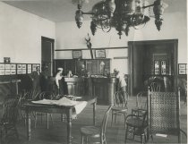 Image of In the Office of the Prospect House, Blue Mountain Lake, Adirondacks, N.Y. - Collotype