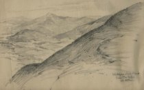 Image of Whiteface & Lake Placid from MacIntyre - Drawing
