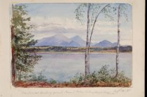 Image of View From our Camping Ground Round Lake Looking Towards Whiteface - Painting