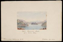 Image of Upper Saranac Lake From Indian Carry - Painting