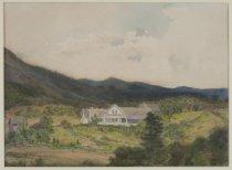 Image of Baker Cottage, Adirondacks [Robert Louis Stevenson Cottage] - Painting