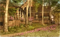 Image of The Connell Doubledecker Cottages. Dart's Camp. Adirondack Mountains, N.Y. - Postcard