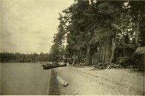 Image of Chauncey Hathorne's Camp, Raquette Lake, Adirondacks, N.Y. - Collotype