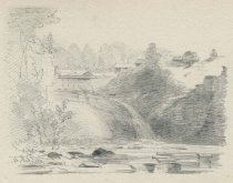 Image of The Ausable River, NY - Drawing