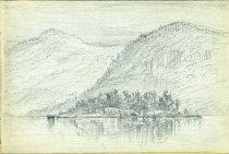 Image of [Untitled: Lake Scene] - Drawing